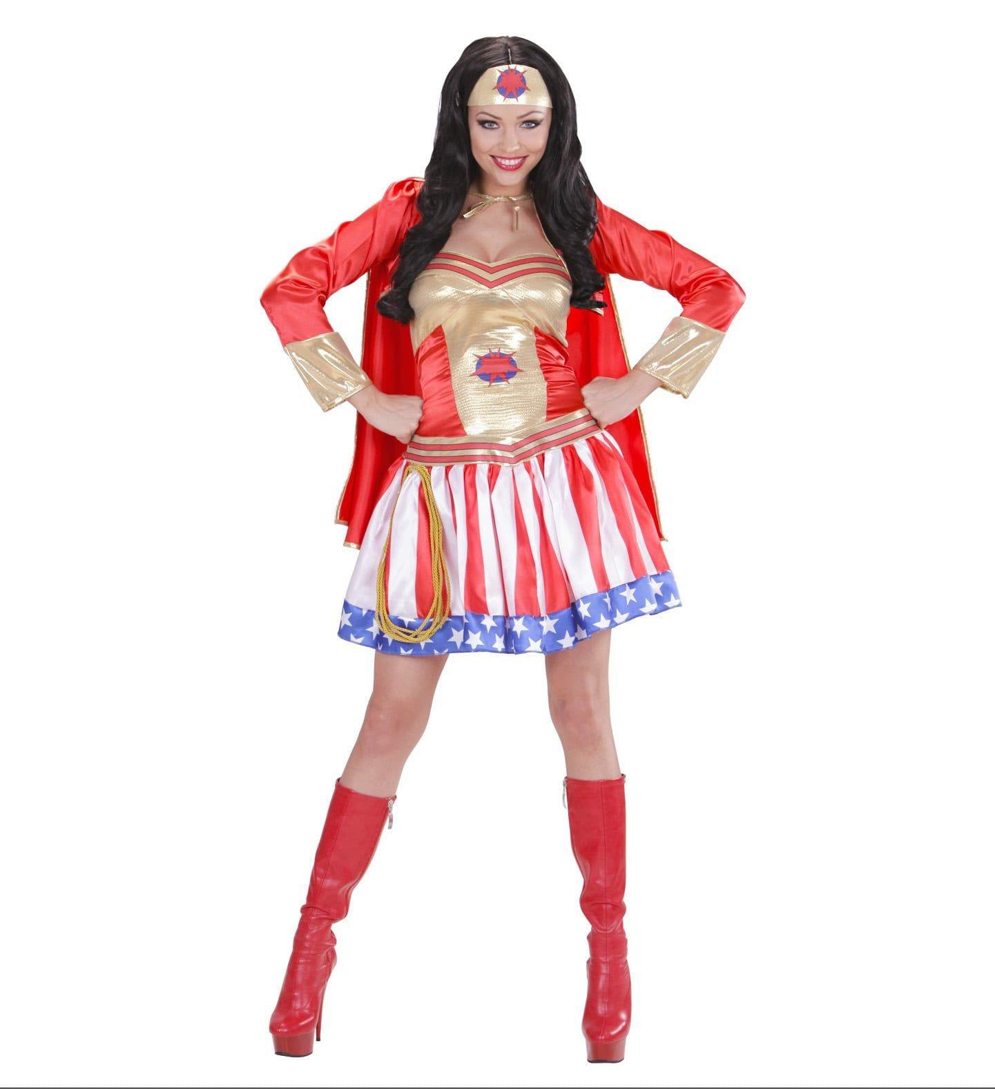 Super Hero Meisje All Star Lady Vrouw Kostuum
