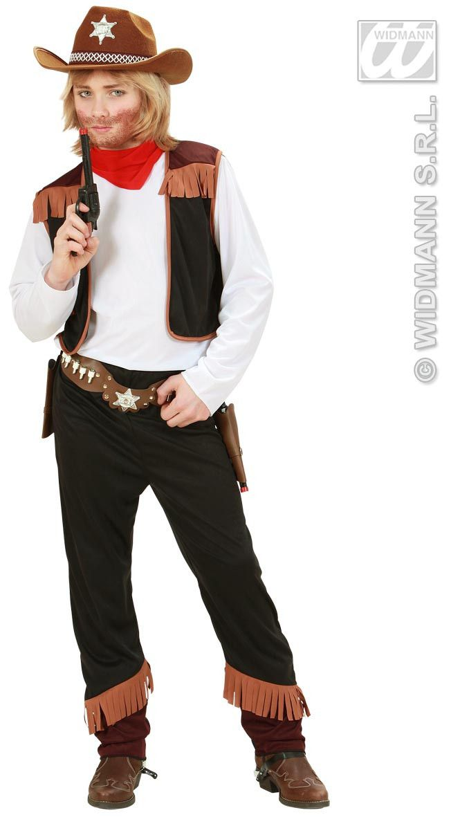 Texas Cowboy Zwart Kind Kostuum Jongen