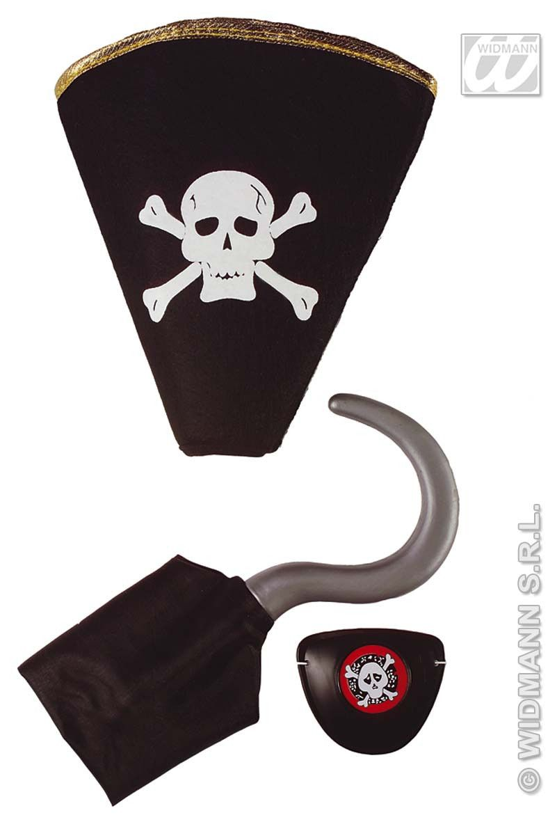 Piratenset Haak Hoed Ooglap