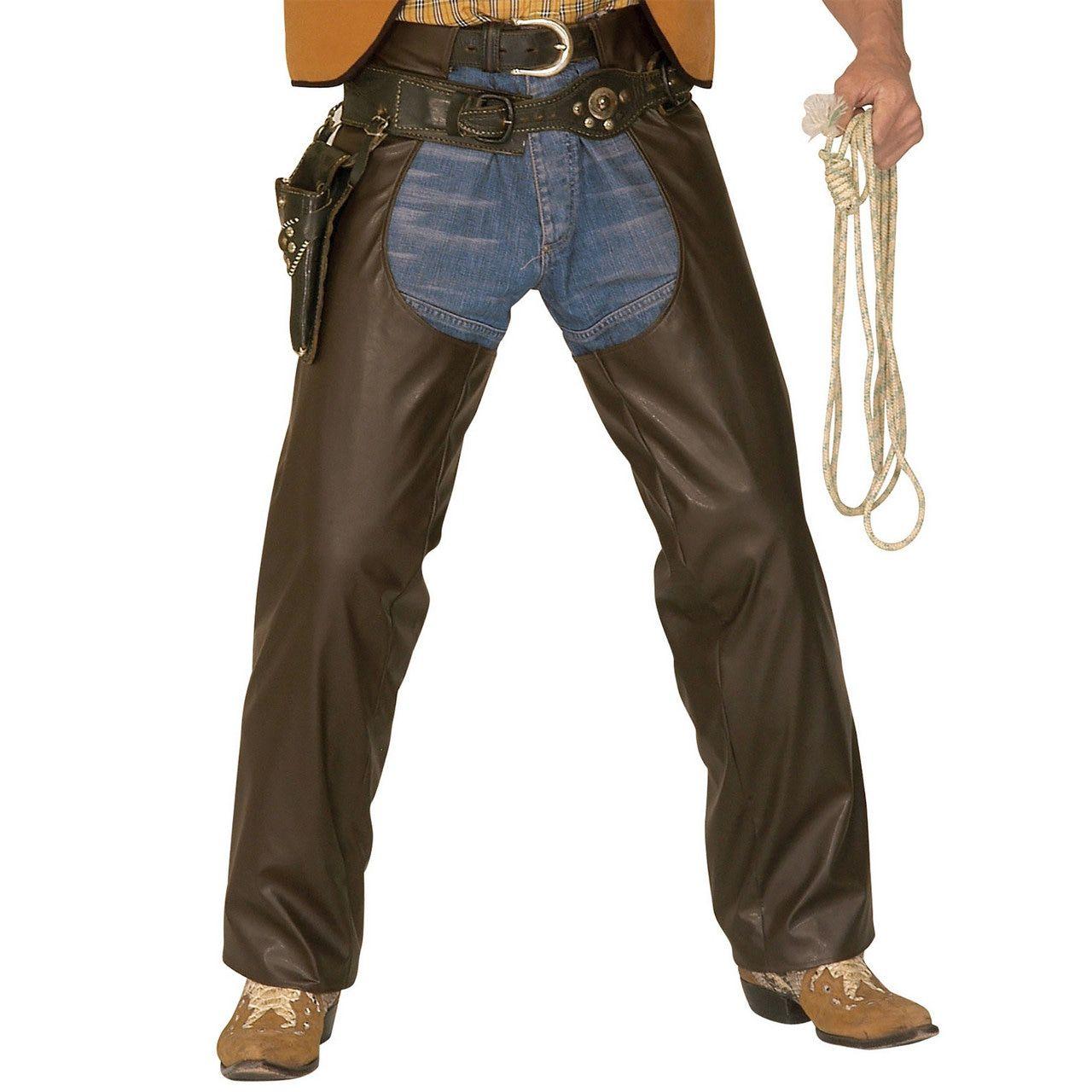 Bruine Chaps, Lederlook XL Man