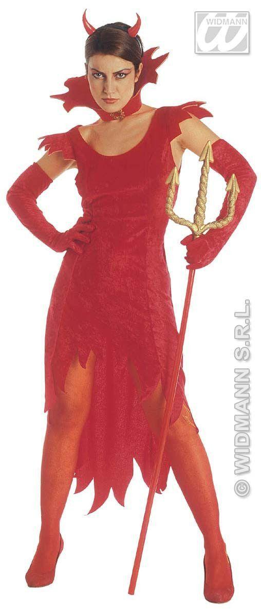 Duivelin, Fluweel Lady Beelzebub Kostuum Vrouw
