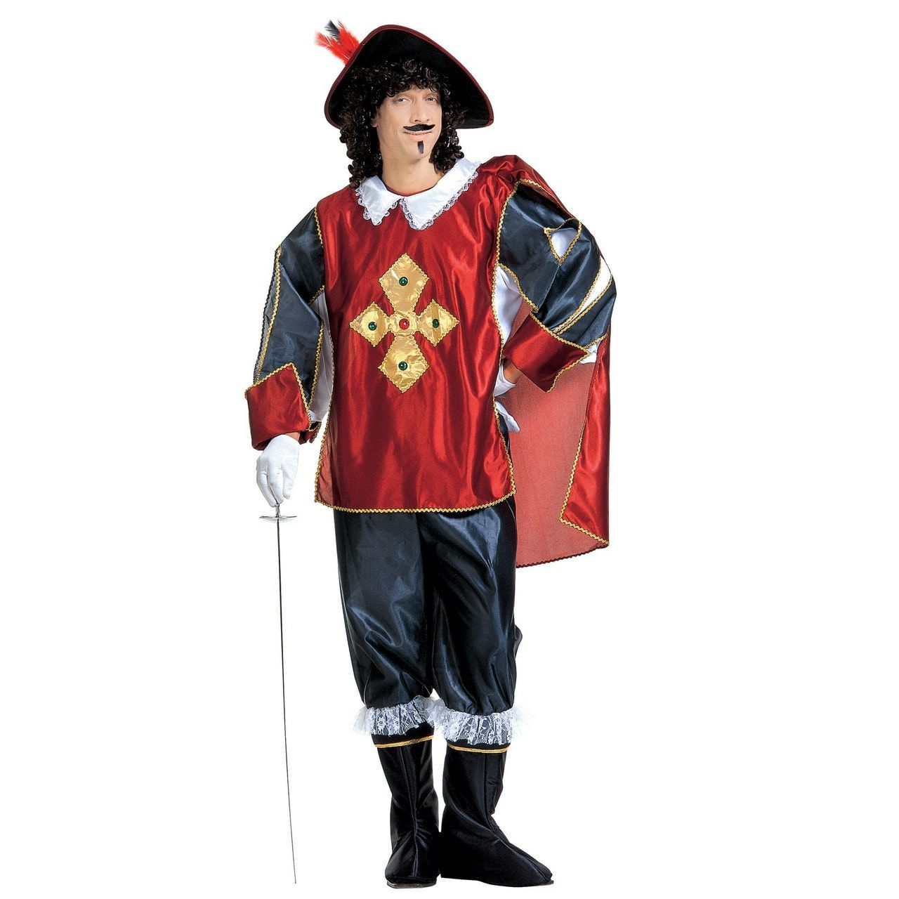 Musketier De Court Kostuum Man