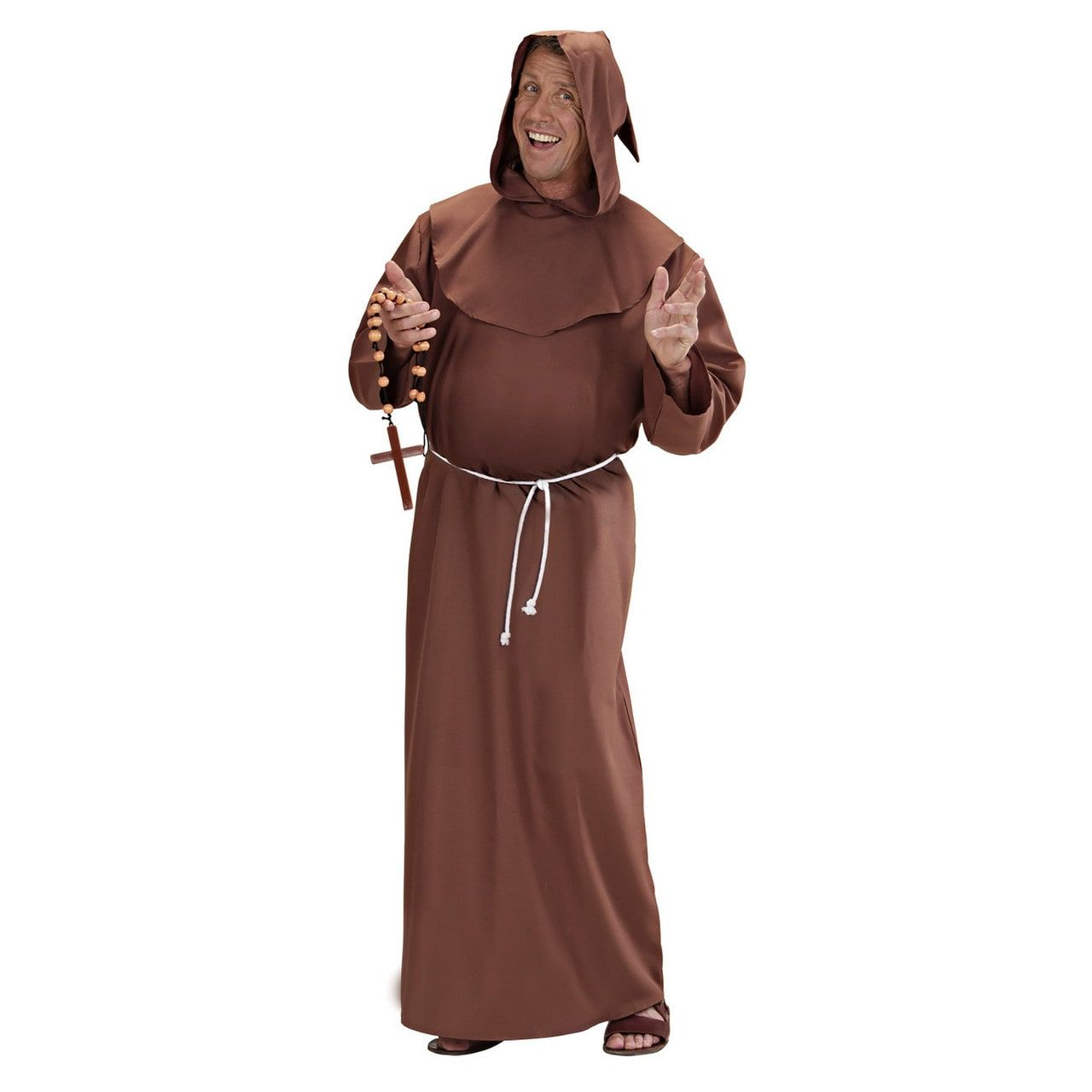 Stijlvolle Kapucijner Monnik Kostuum Man