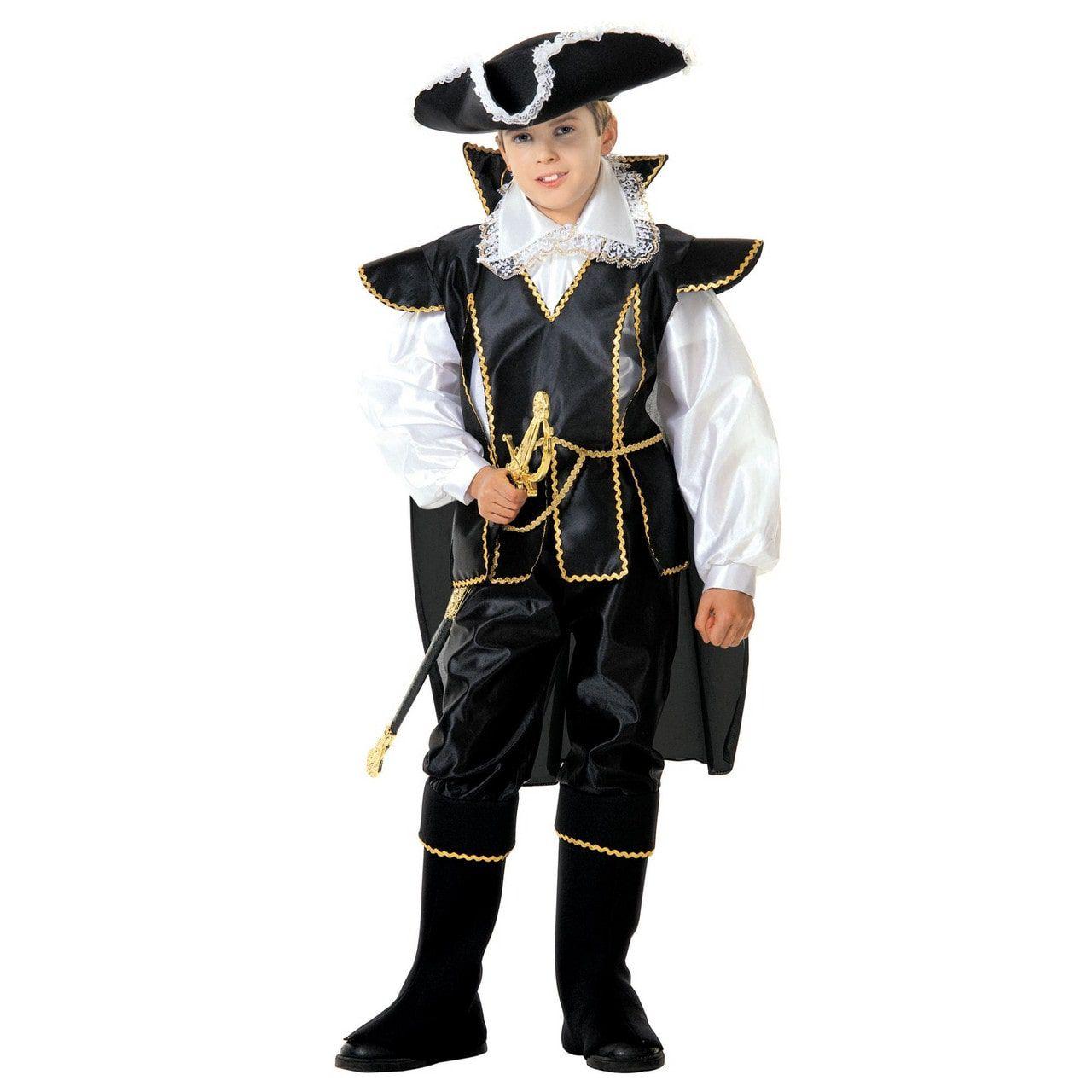 Zwarte Kapitein Musketier Van De Koning Kostuum Jongen