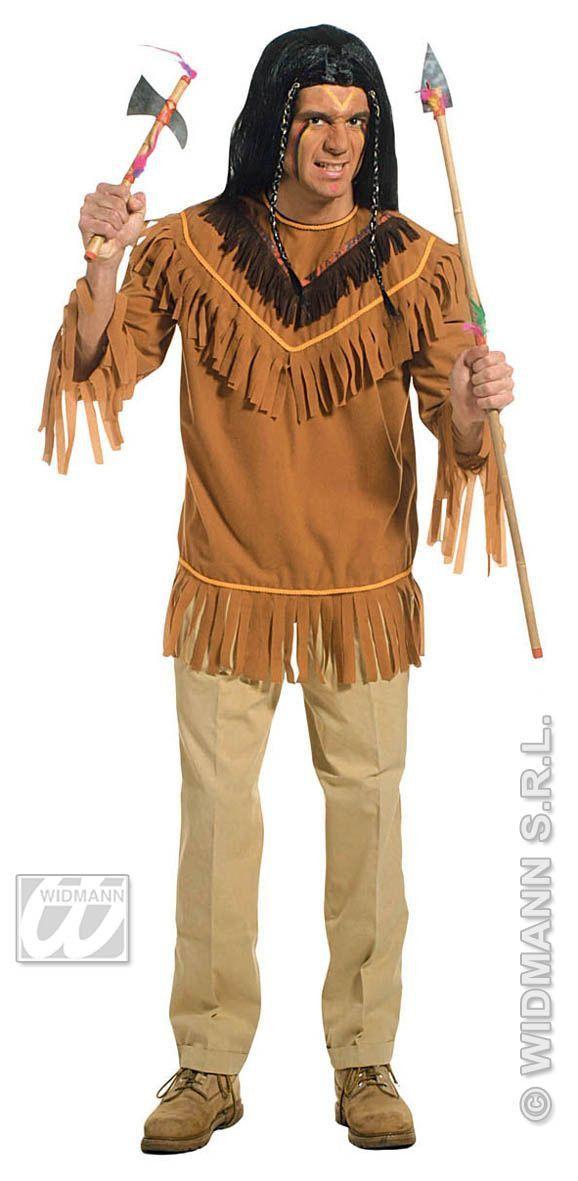 Snelle Verkleedset, Indiaan Chief Kostuum Man