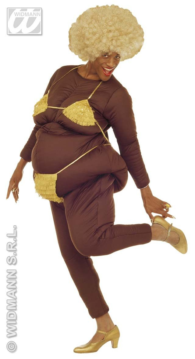 Zwarte Vette Lapdancer Hee Swa Kostuum Man