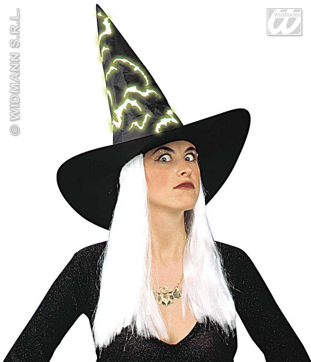 Heksenhoed Haar, En Vleermuis Lichtgevend In Donker