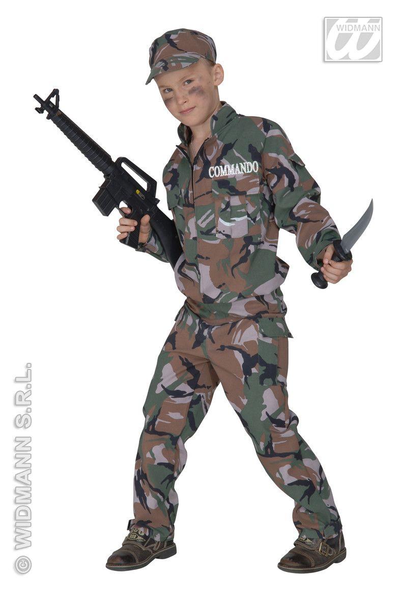 Commando, Fiberoptisch Combat Soldier Kostuum Jongen