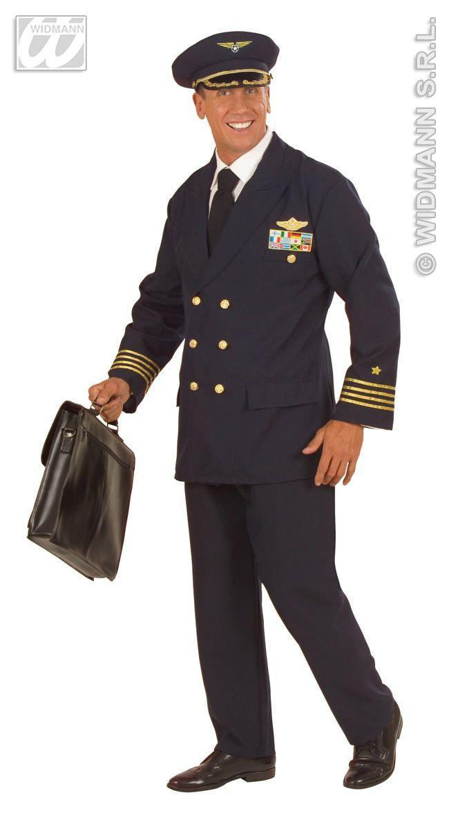 Piloot Luxe Captain Boeing Kostuum Man