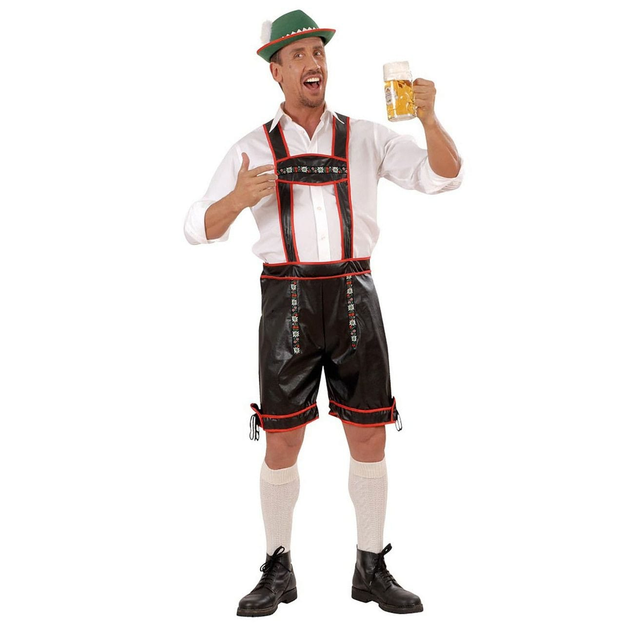 Traditionele Lederhose Lederlook Man