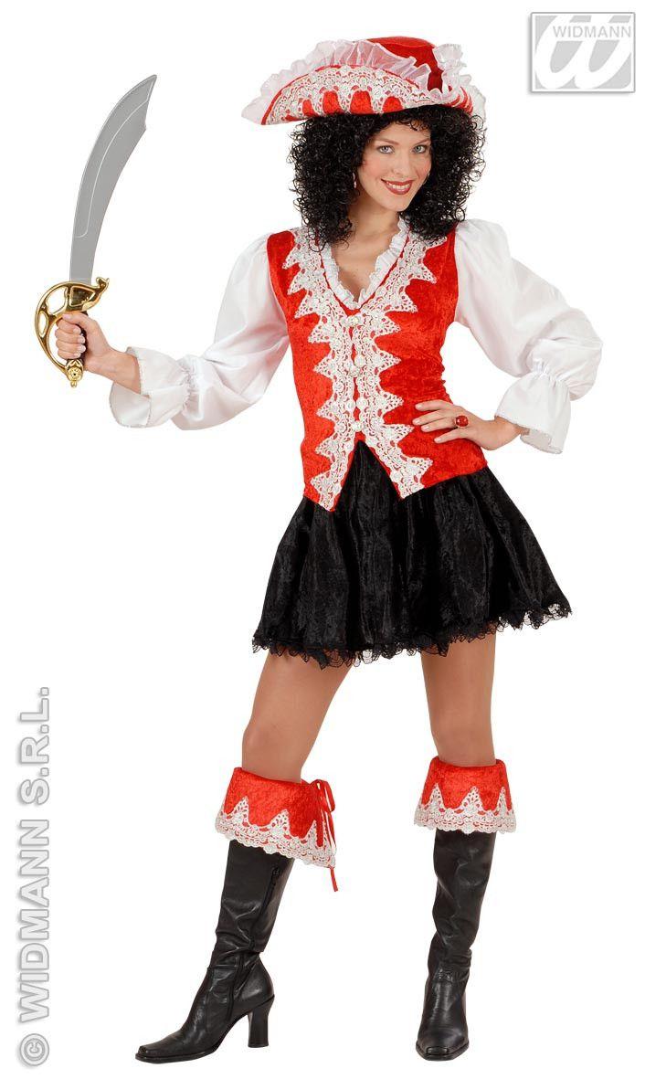 Kleurrijke Koninklijke Pirate, Rood Kostuum Vrouw