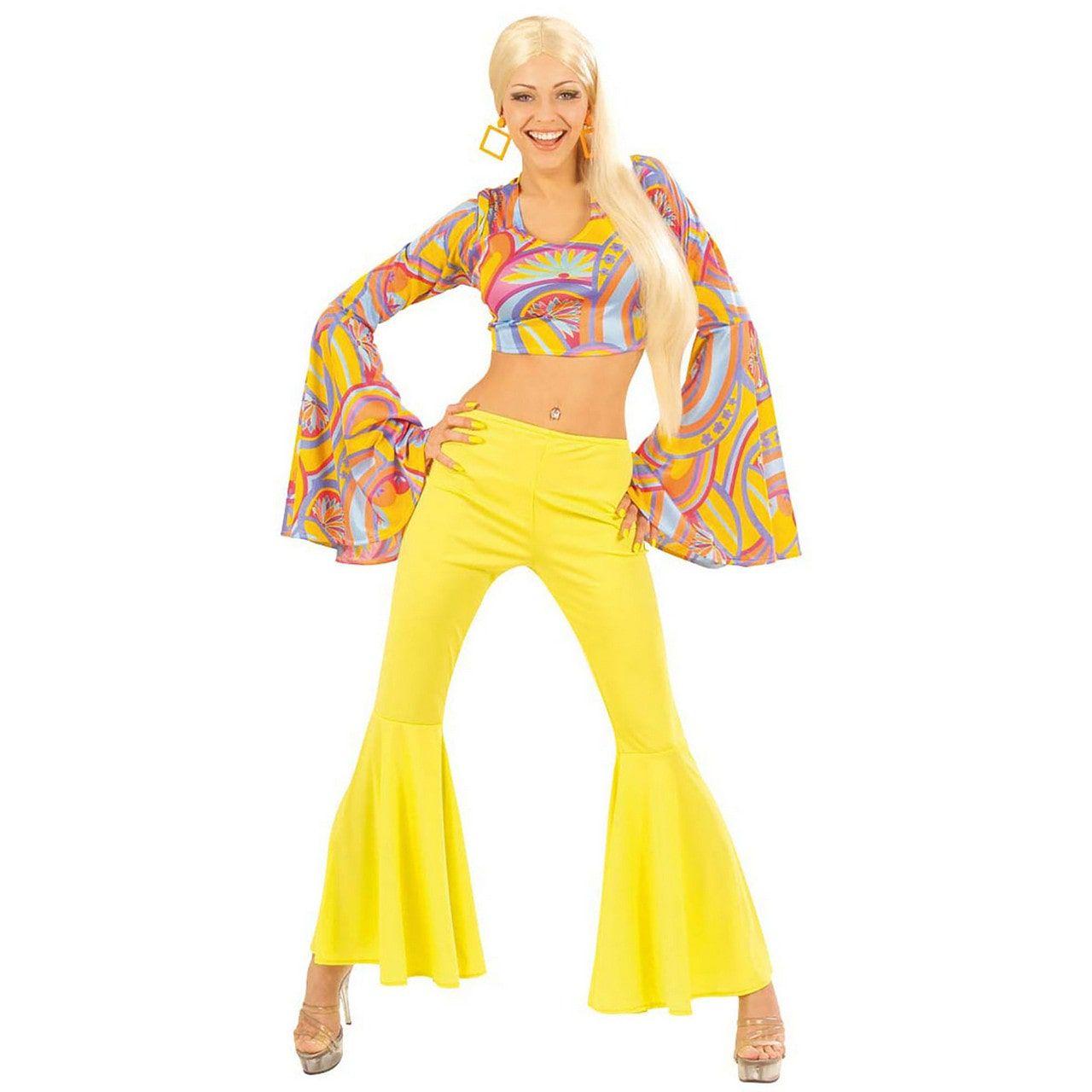 Funky Lady Seventies Ms Belly Kostuum Vrouw