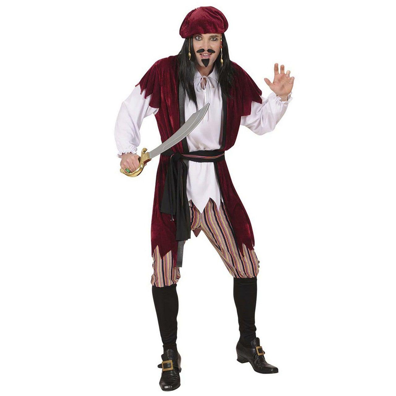 Caribische Piraat Jack Sparrow Kostuum Man