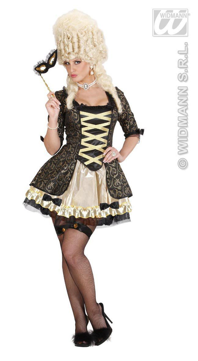 Koningin Barok Zwart Miss Mozart Kostuum Vrouw