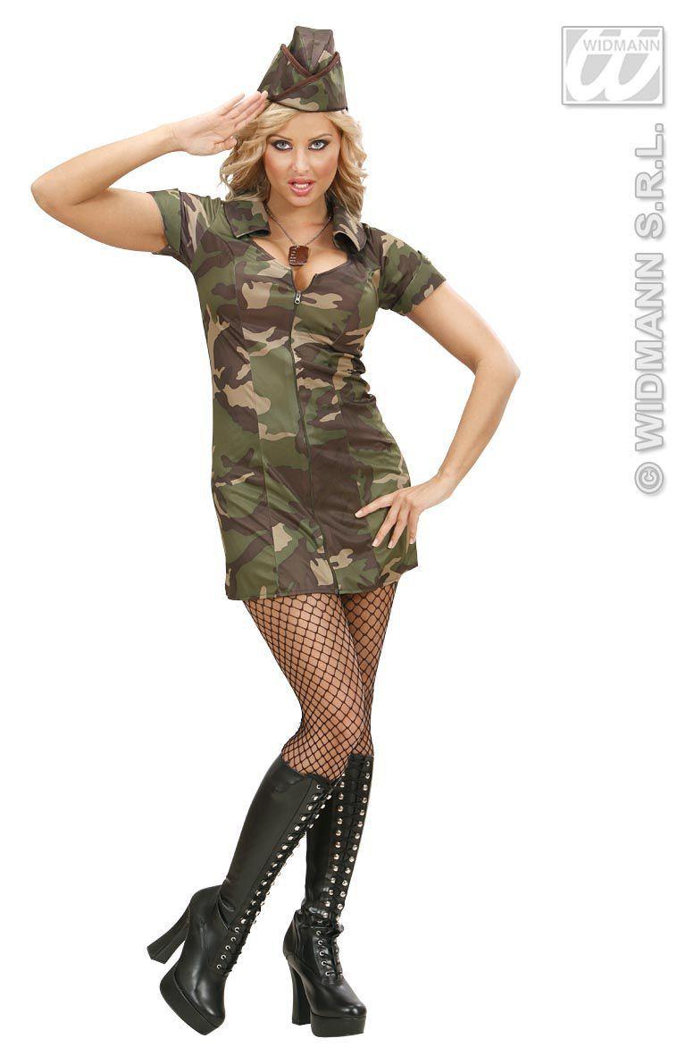 Sexy Soldate Ms Army Kostuum Vrouw