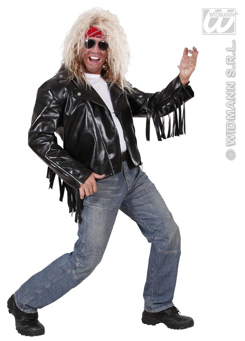 Rocker Jas Lederlook Met Franjes M-L Kostuum Man