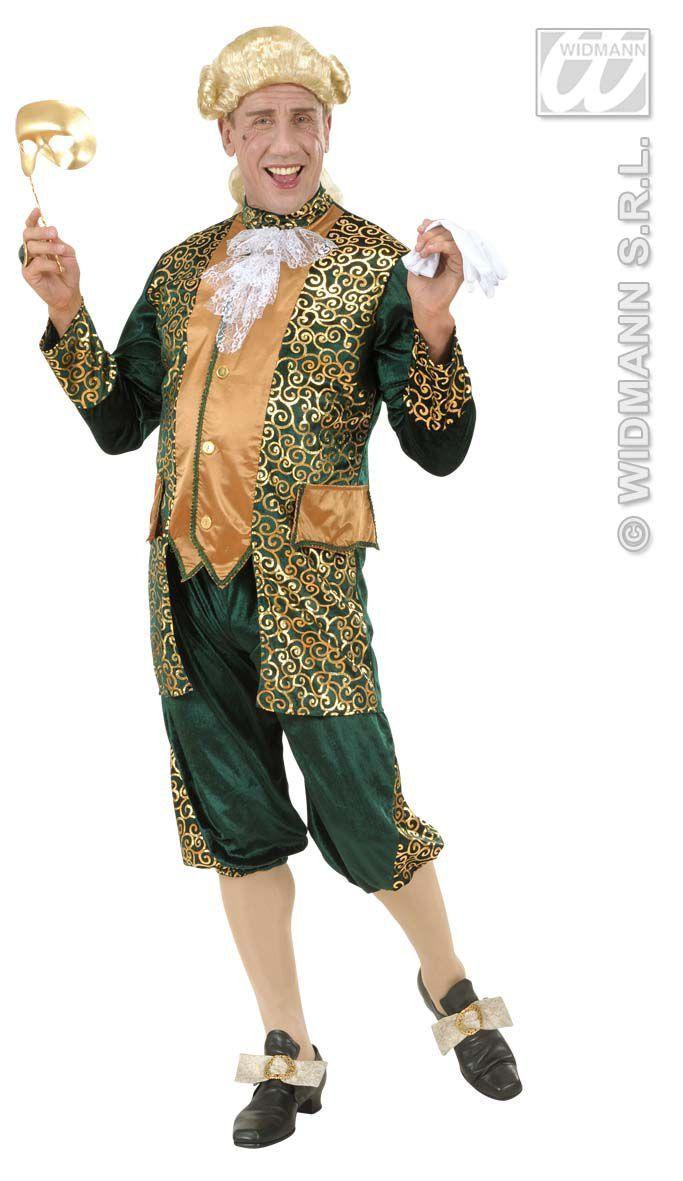 Markies Fluweel Groen Markies Beethoven Kostuum Man