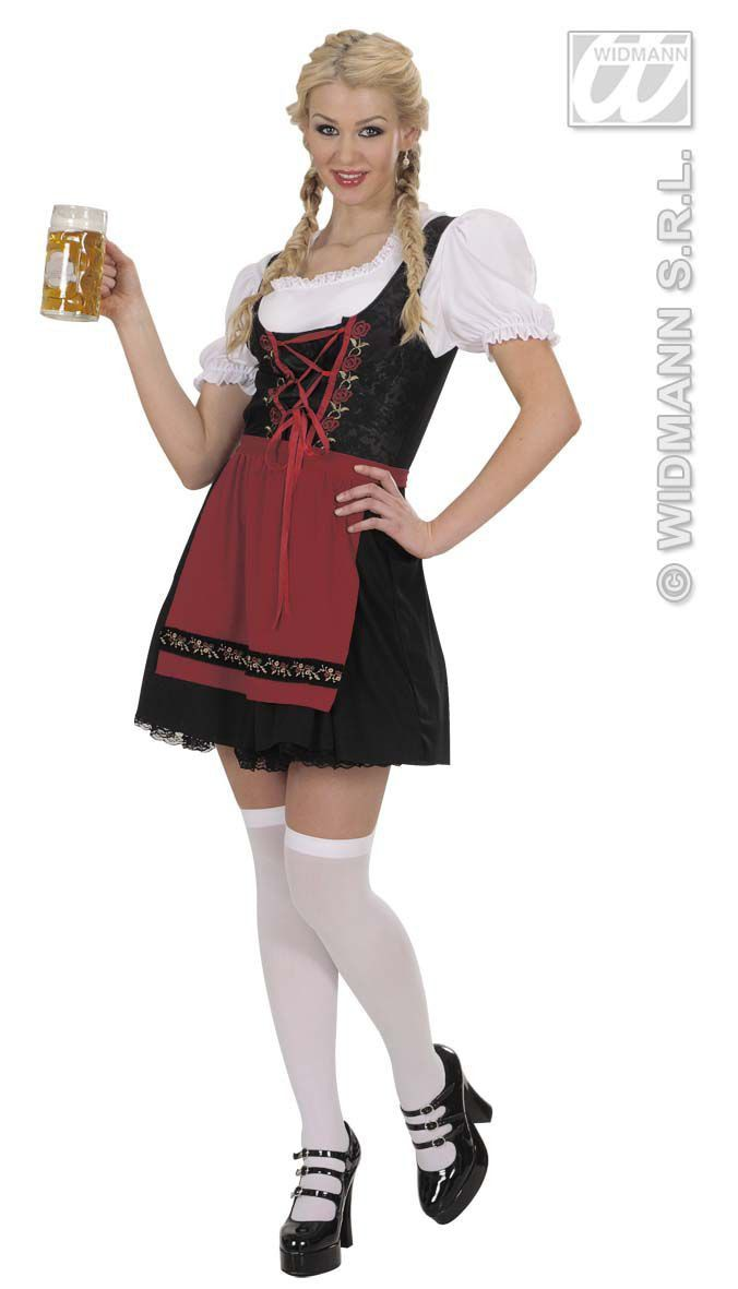 Duits Biermeisje Luxe Kurz Kostuum Vrouw