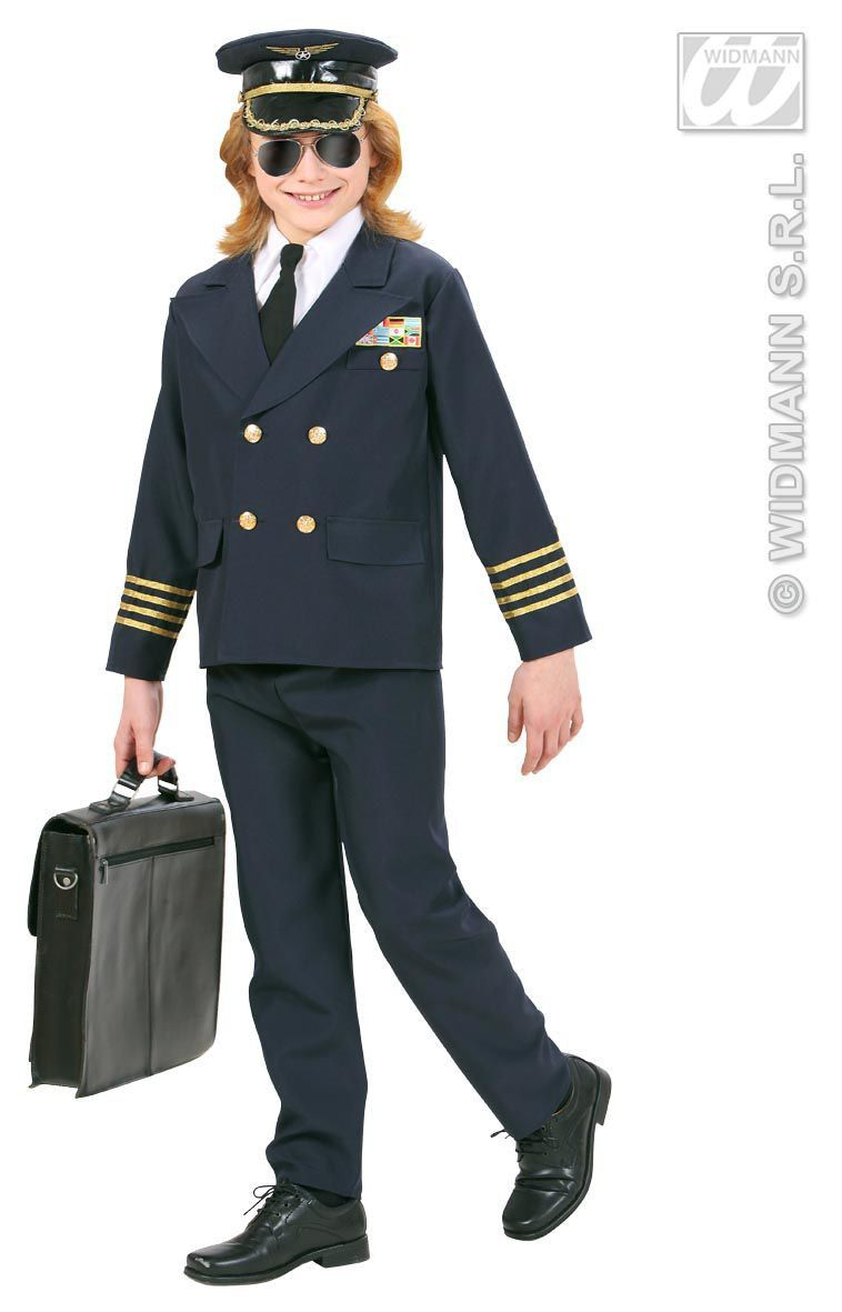 Piloot Captain Boeing Kostuum
