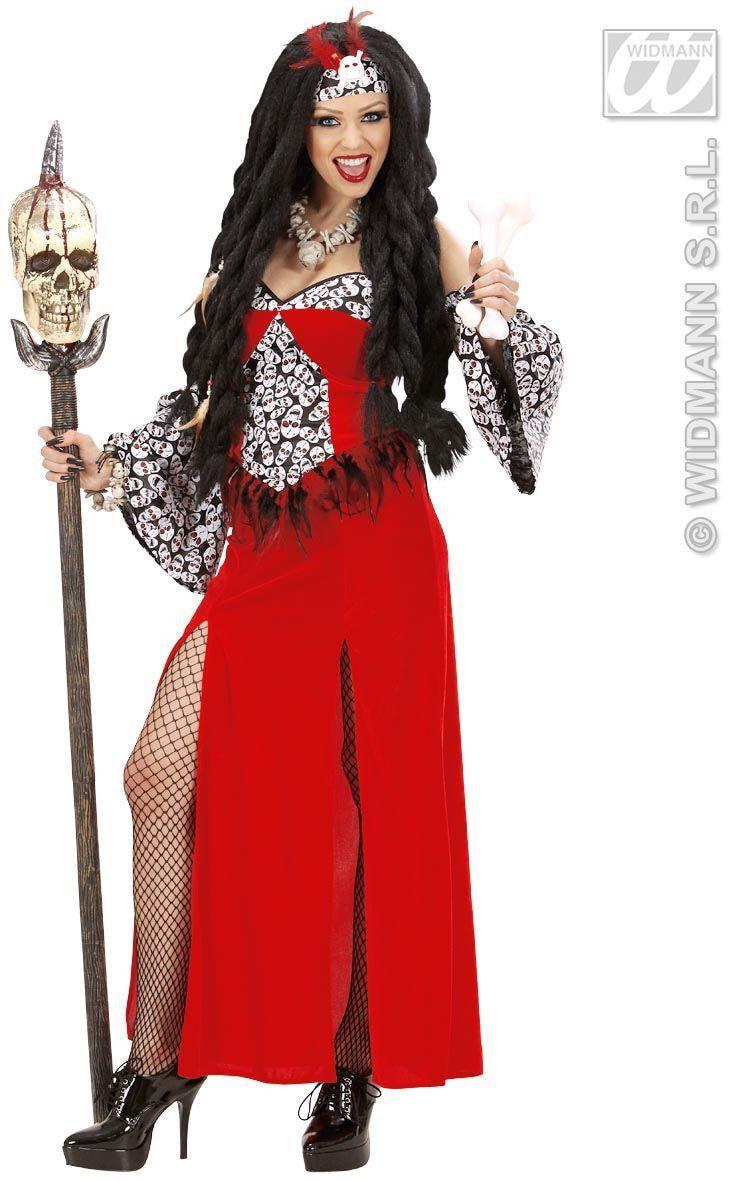 Funky Vrouwelijke Voodoo Priester Kostuum