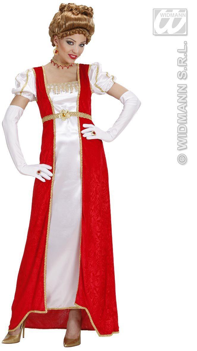 Josephine Rood Wit Kostuum Vrouw
