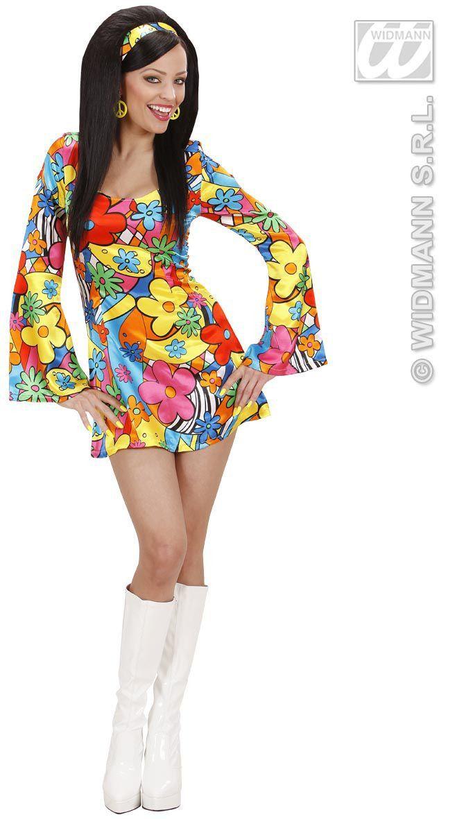 Kleurrijke Hippie Jurk Kostuum Vrouw
