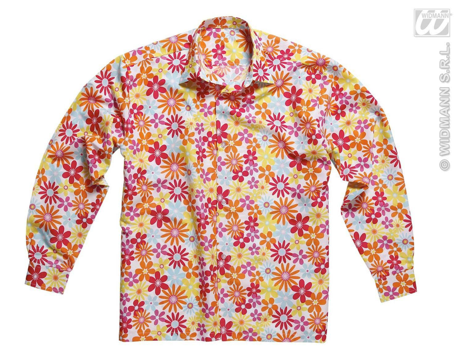Hippie Shirt Met Bloemen Man