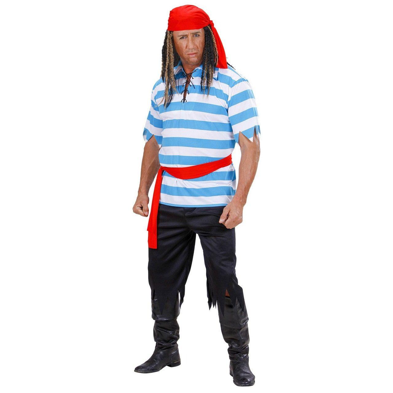 Macho Caraibische Piraat Kostuum Man