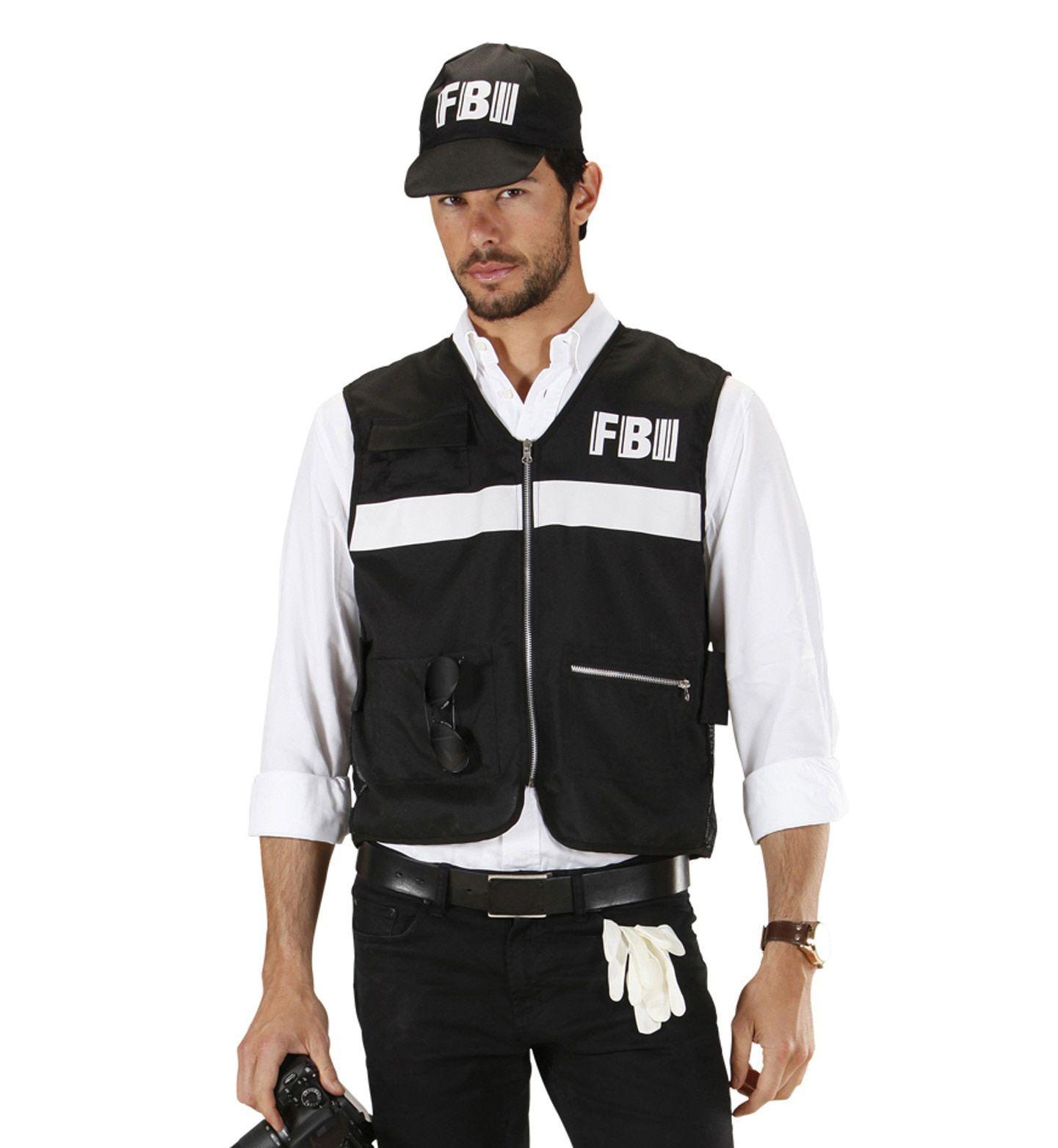 Fbi Onderzoeker Vest Met Cap XL Man Kostuum