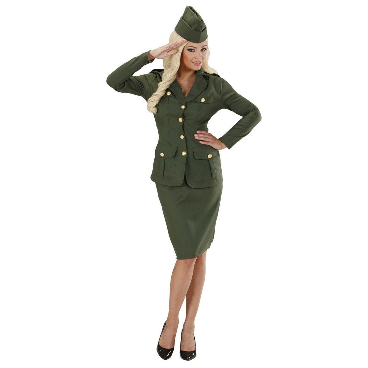 Soldate 2e Wereldoorlog Private Sexy Kostuum Vrouw