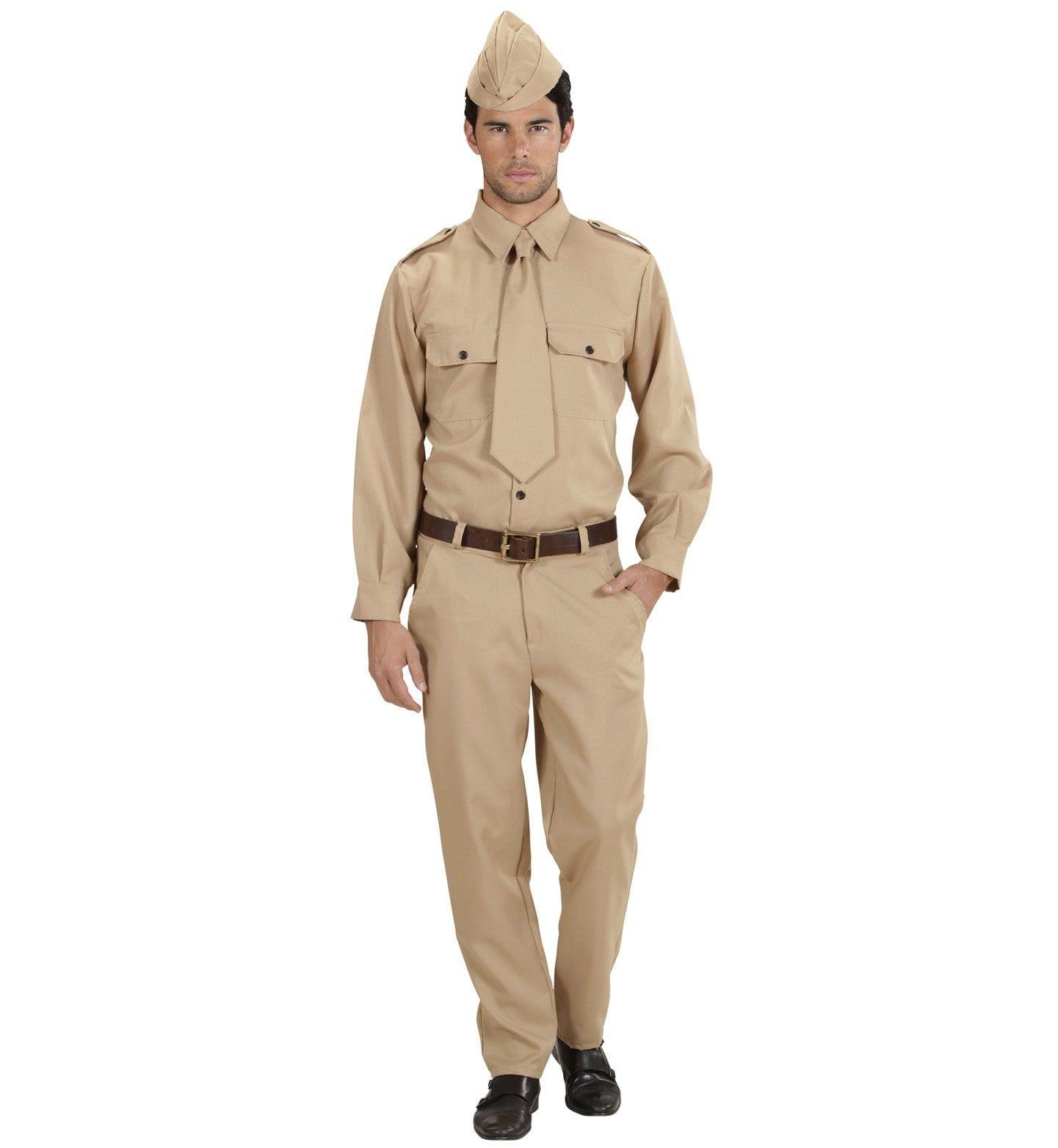 Soldaat 2e Wereldoorlog Desert Soldier Kostuum Man