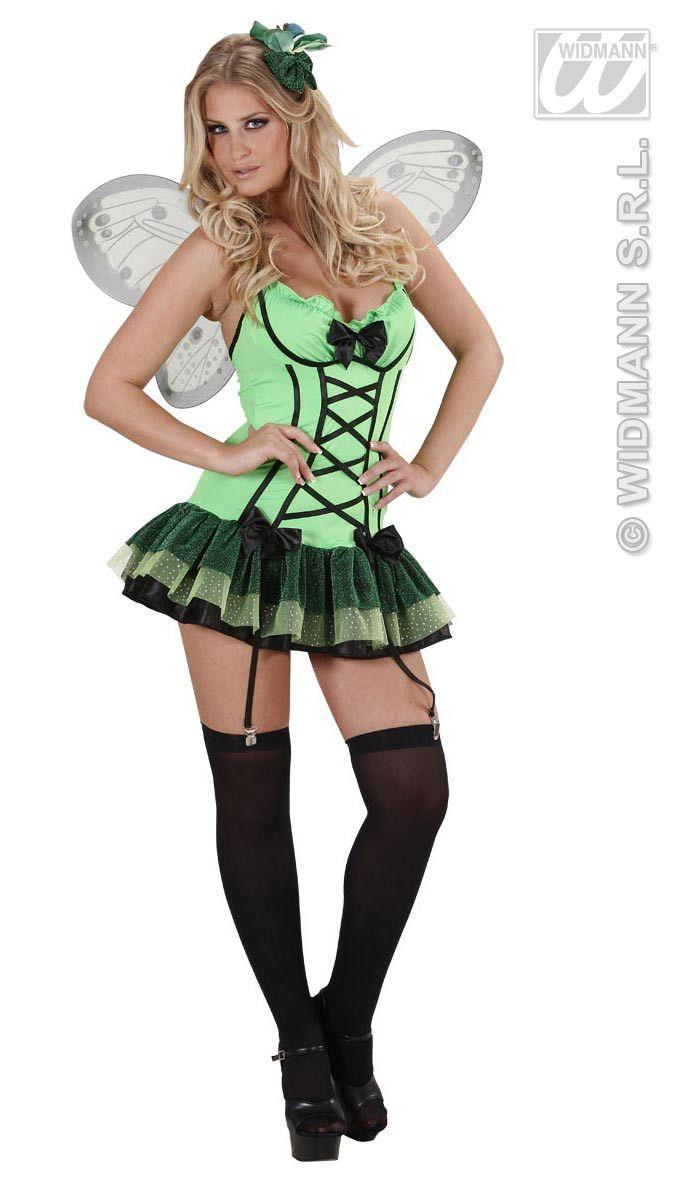 Sexy Vlinder Groen Kostuum Vrouw