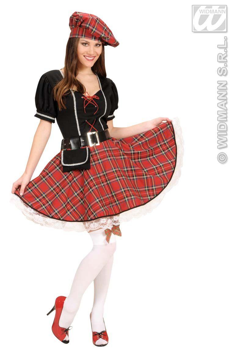 Schots Meisje, Sexy Highlander Girl Kostuum Vrouw