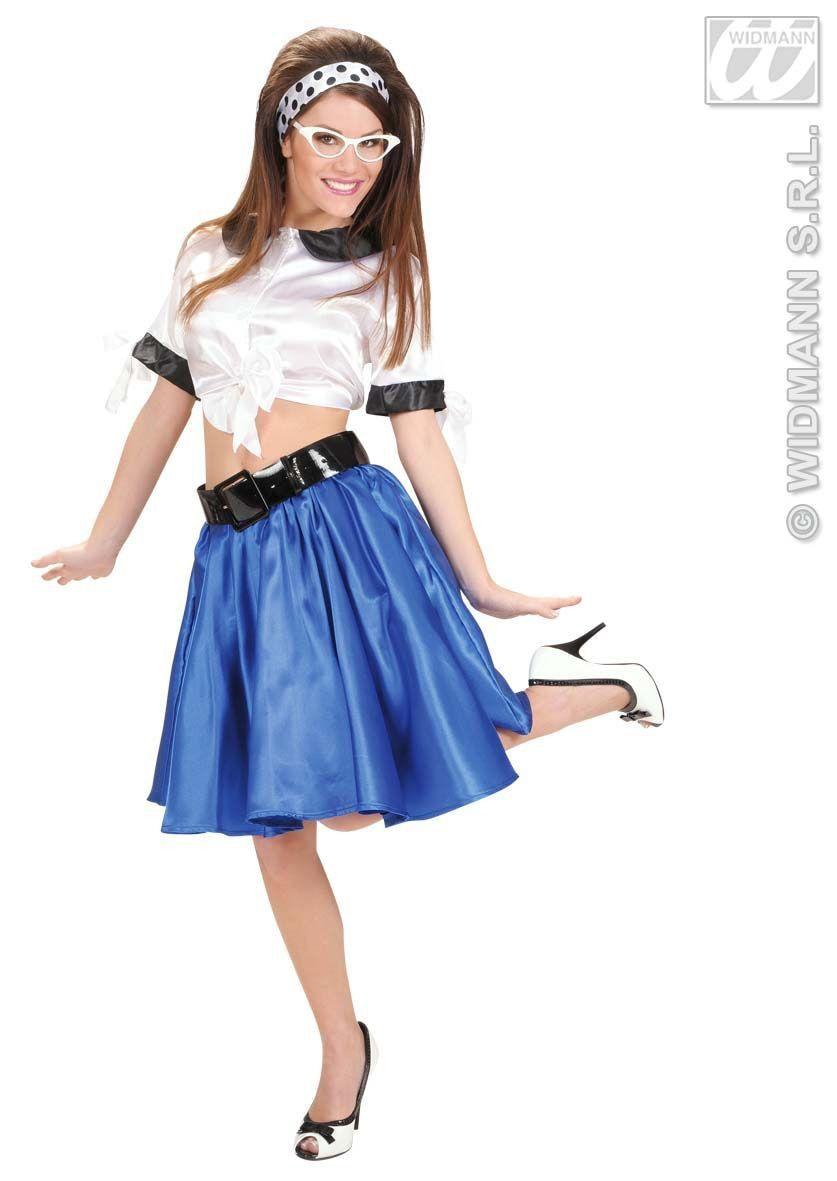 Satijnen Top, Wit Vrouw Kostuum