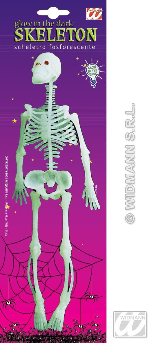 Rubber Skelet 33 Centimeter, Lichtgevend In Donker