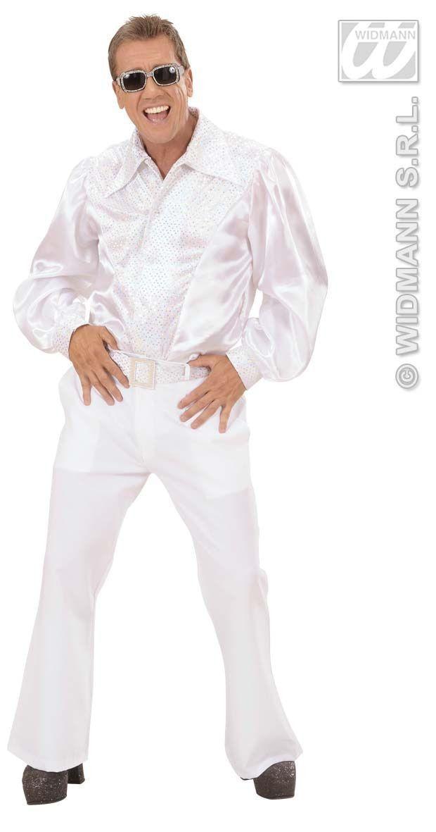 Wit Shirt Pailletten Man