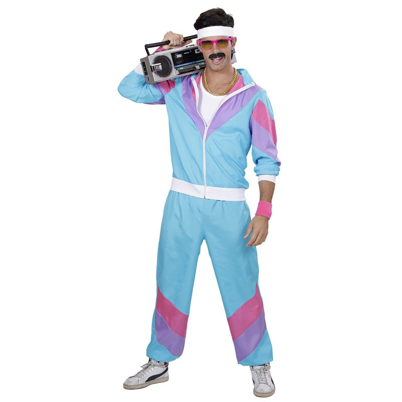 Fout Blauw New Kids 80s Trainingpak Volwassen Kostuum