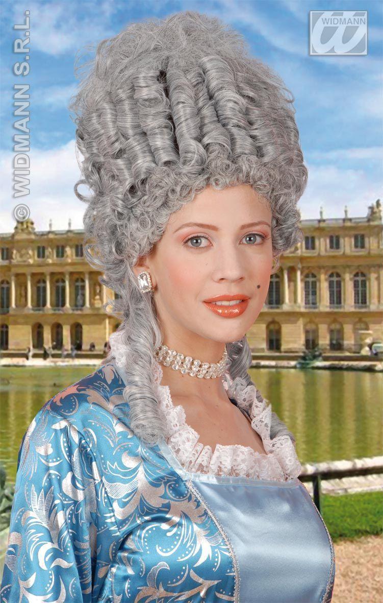 Pruik, Marie Antoinette Grijs