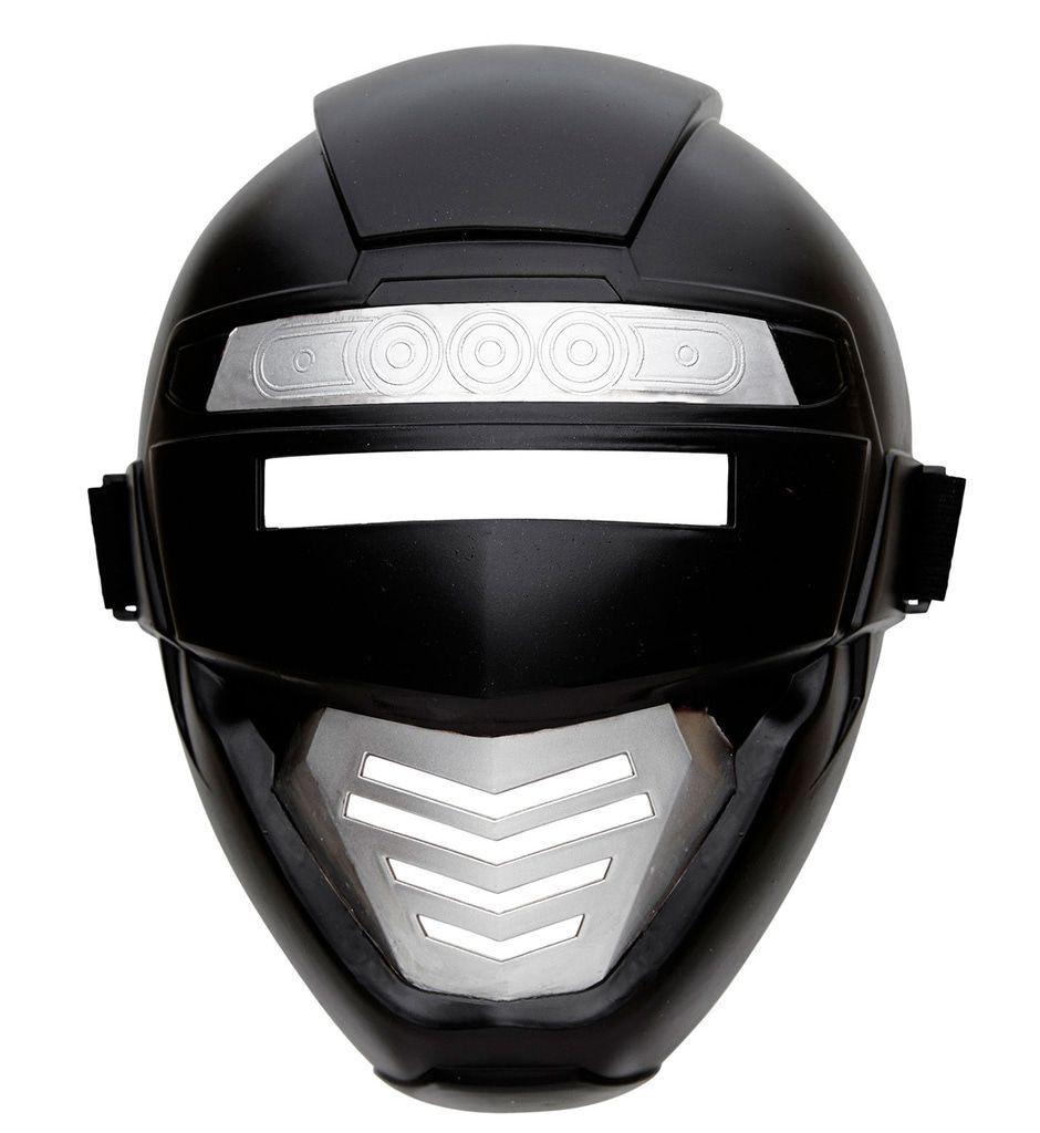 Power Ranger Robotmasker Kind, Zwart