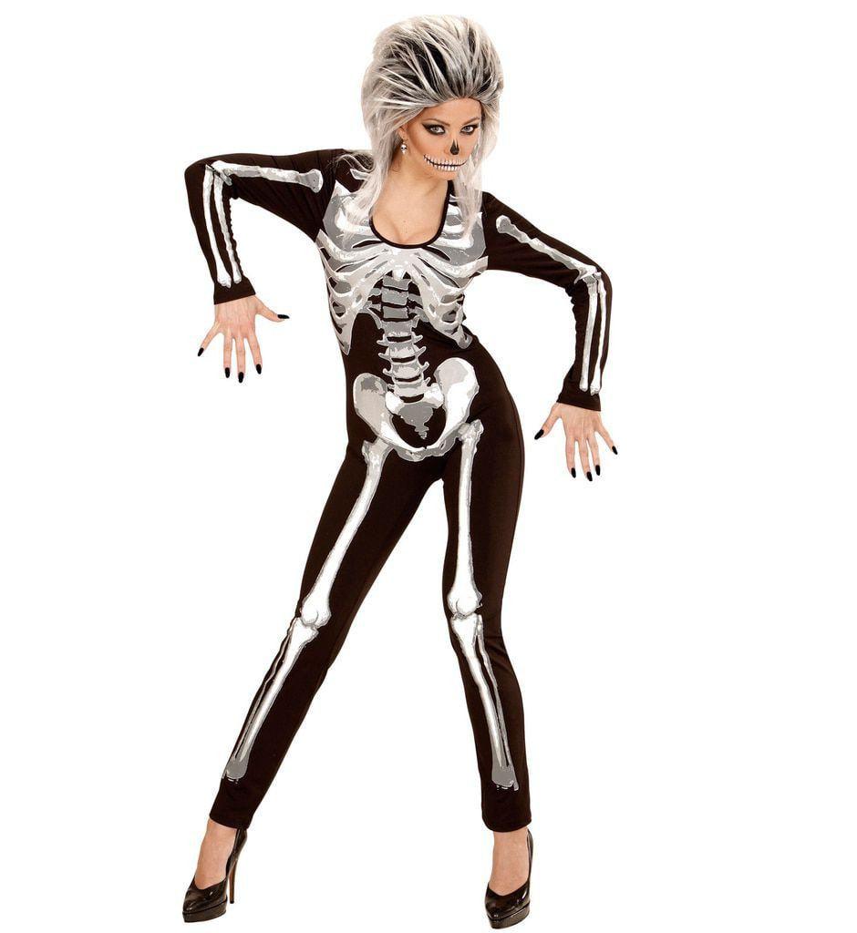 Catsuit Skeletmeisje Vrouw Kostuum