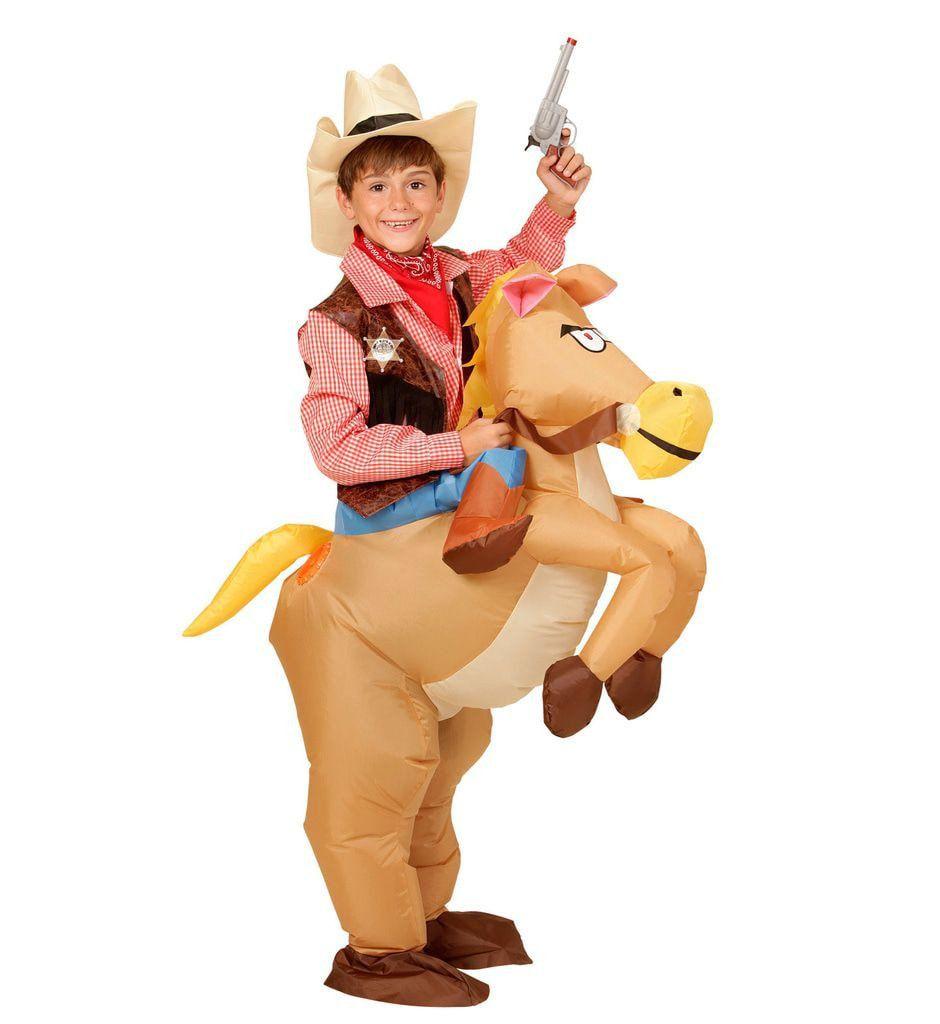 Hilarisch Opblaasbaar Paard Kind Kind Kostuum