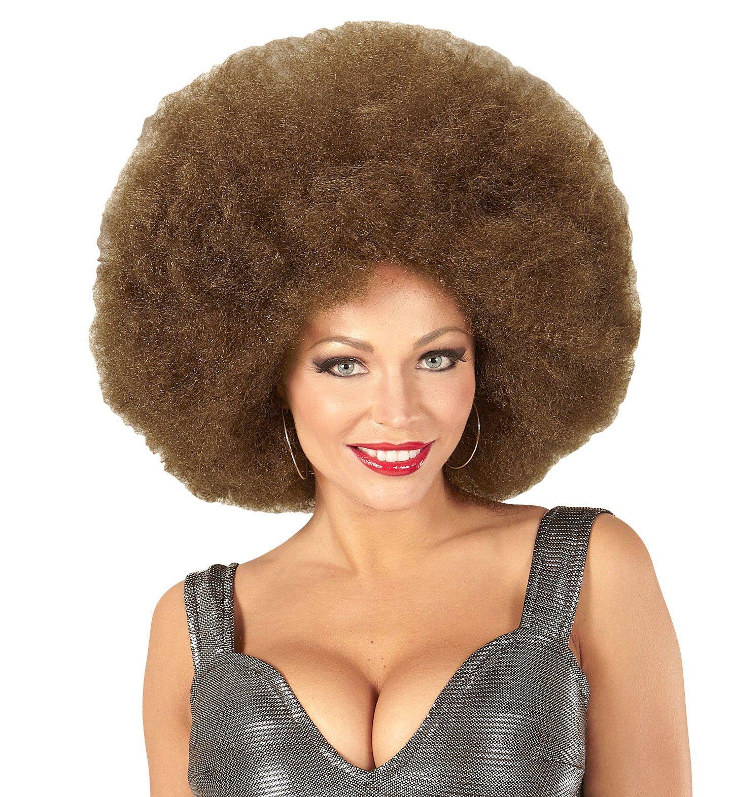 Soul Diva Pruik, Afro Extra Groot Bruin