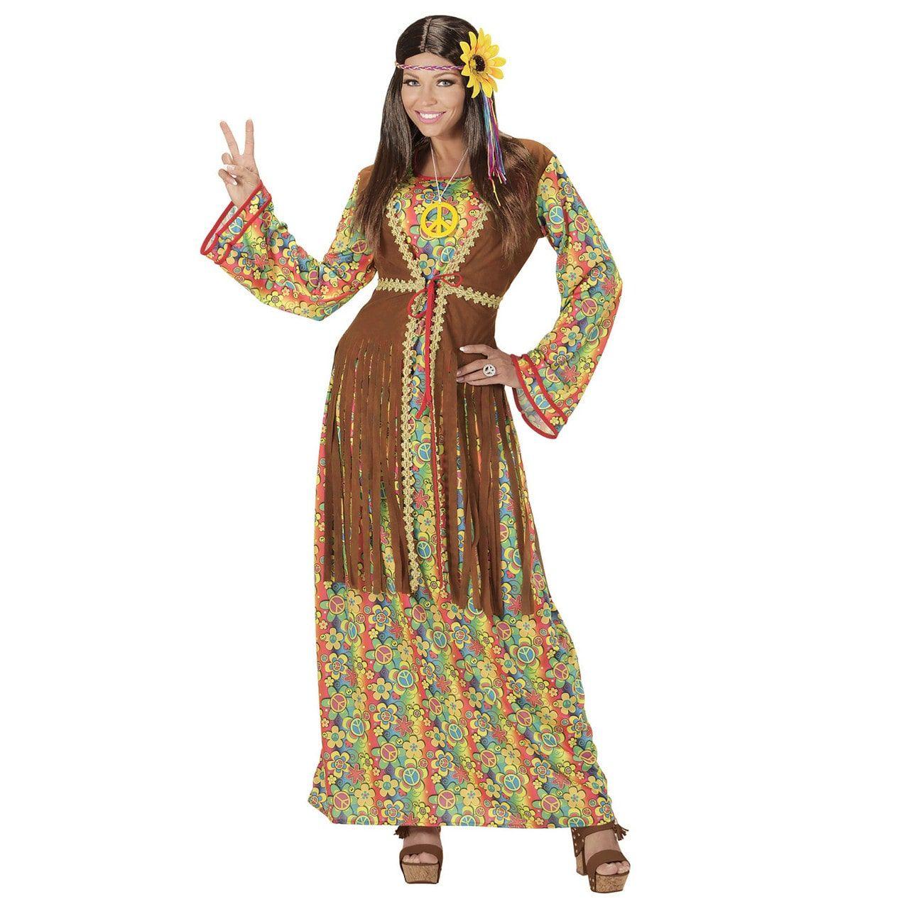 Bruine Lange Balkan Hippie Vrouw Kostuum