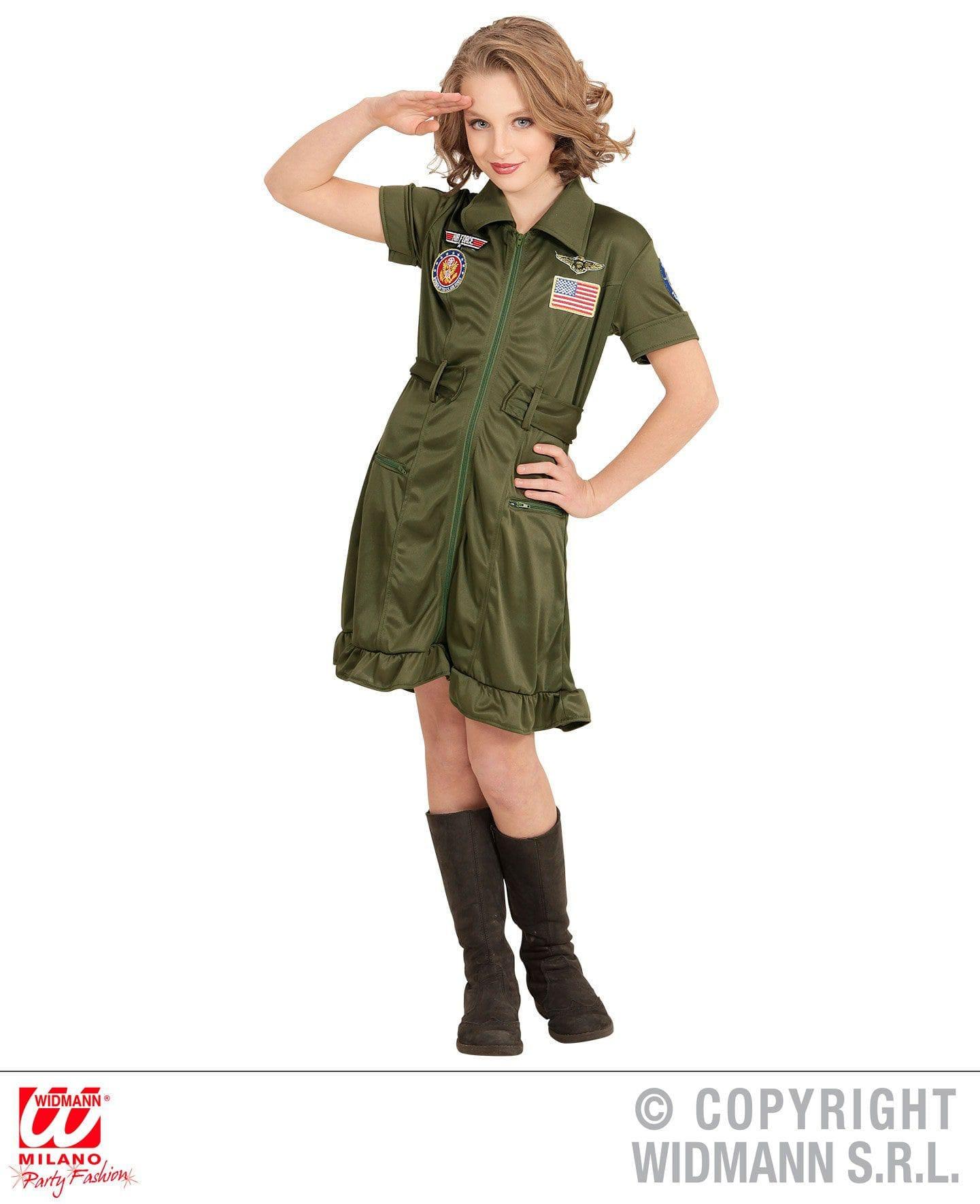 Junior Jsf Gevechtspilote Meisje Kostuum