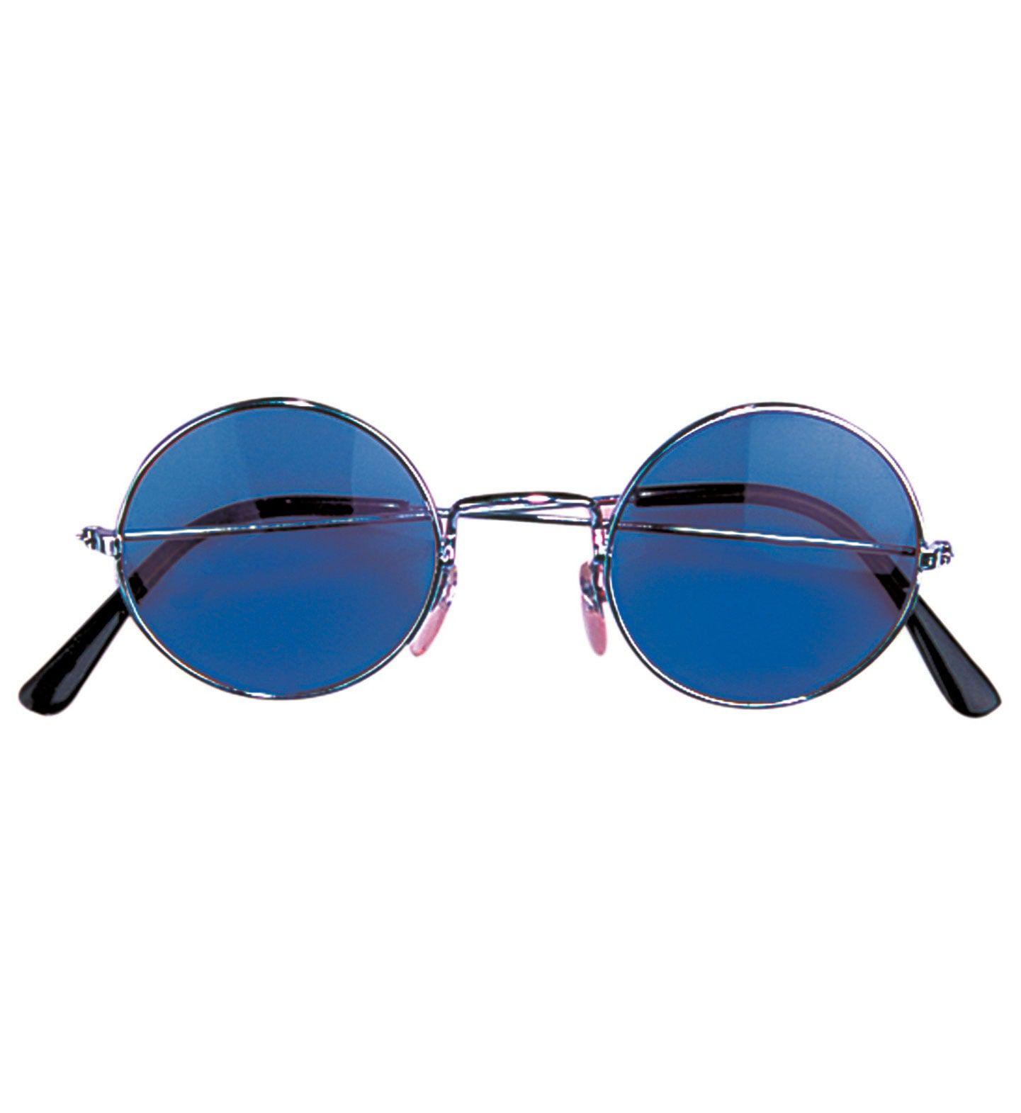 Freaky Bril, Hippie Blauw Glas