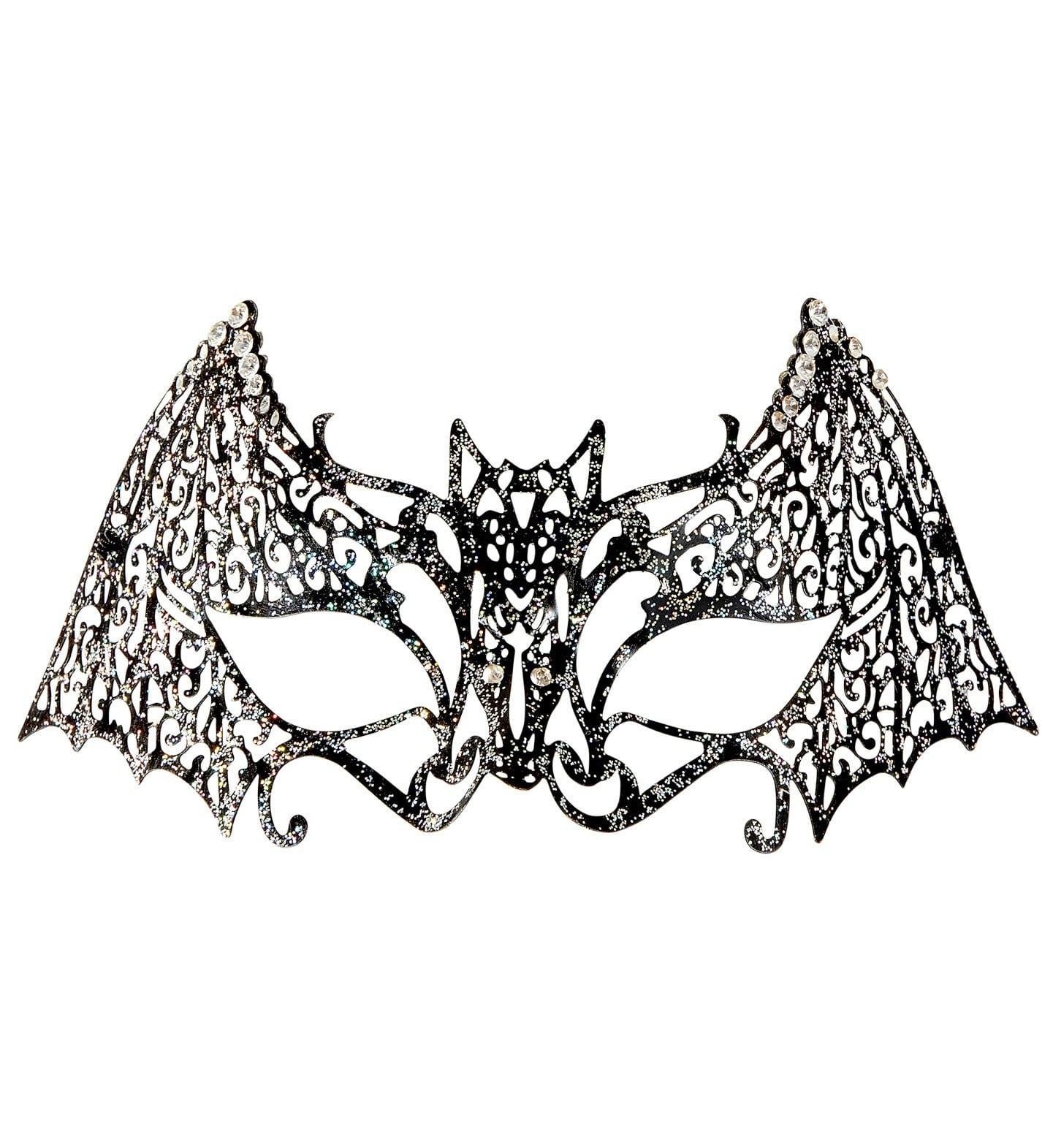 Sexy Vamp Oogmasker Vleermuis Met Strass