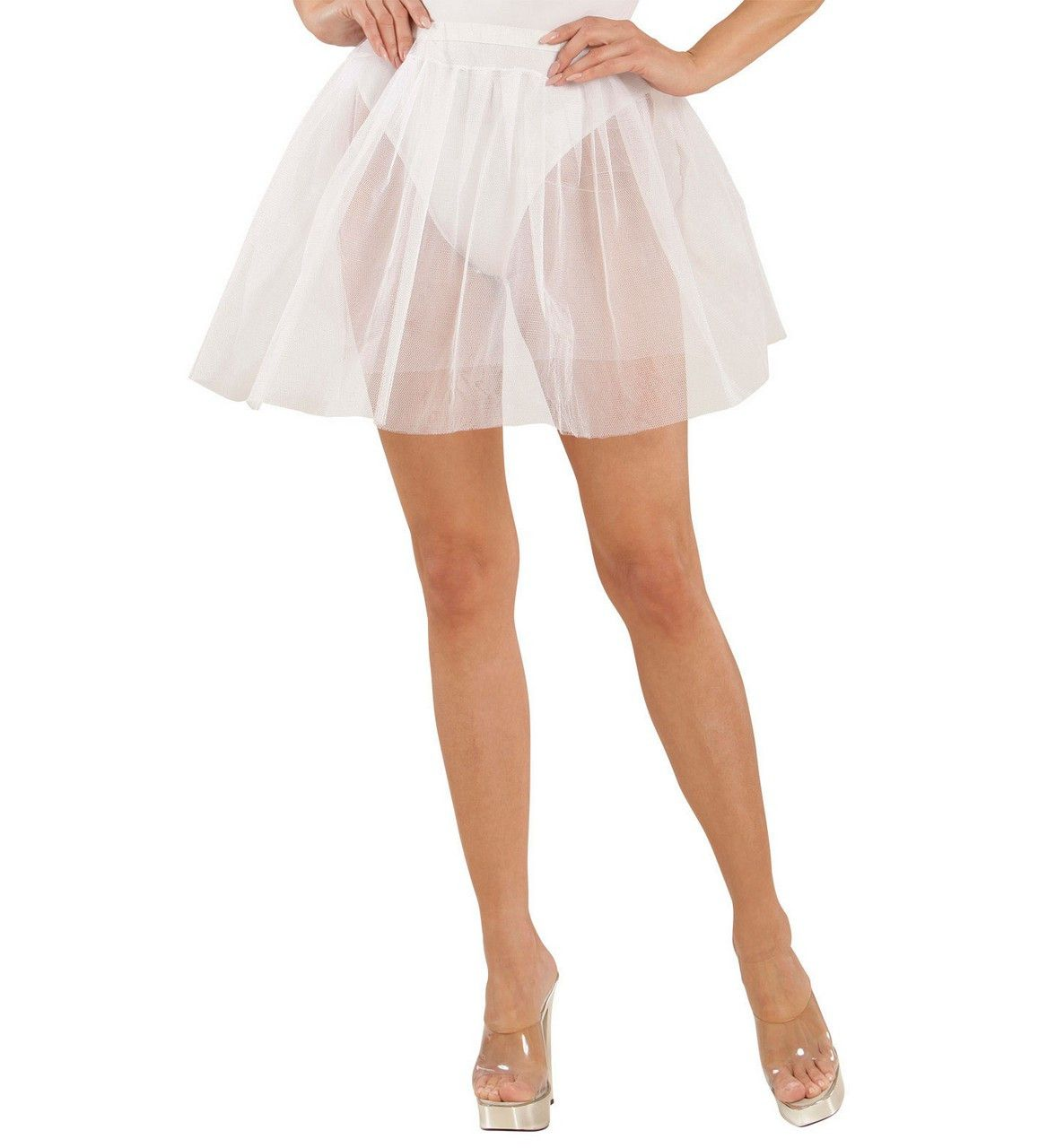 Doorschijnende Petticoat Wit