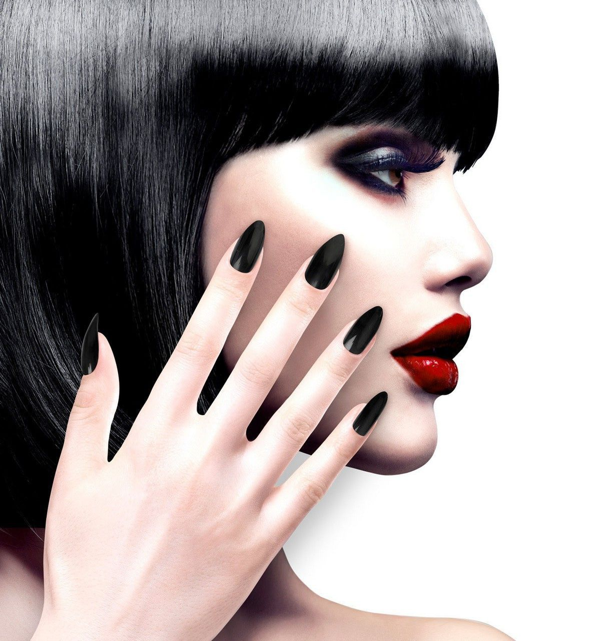Nagels Vampira Stiletto Zwart