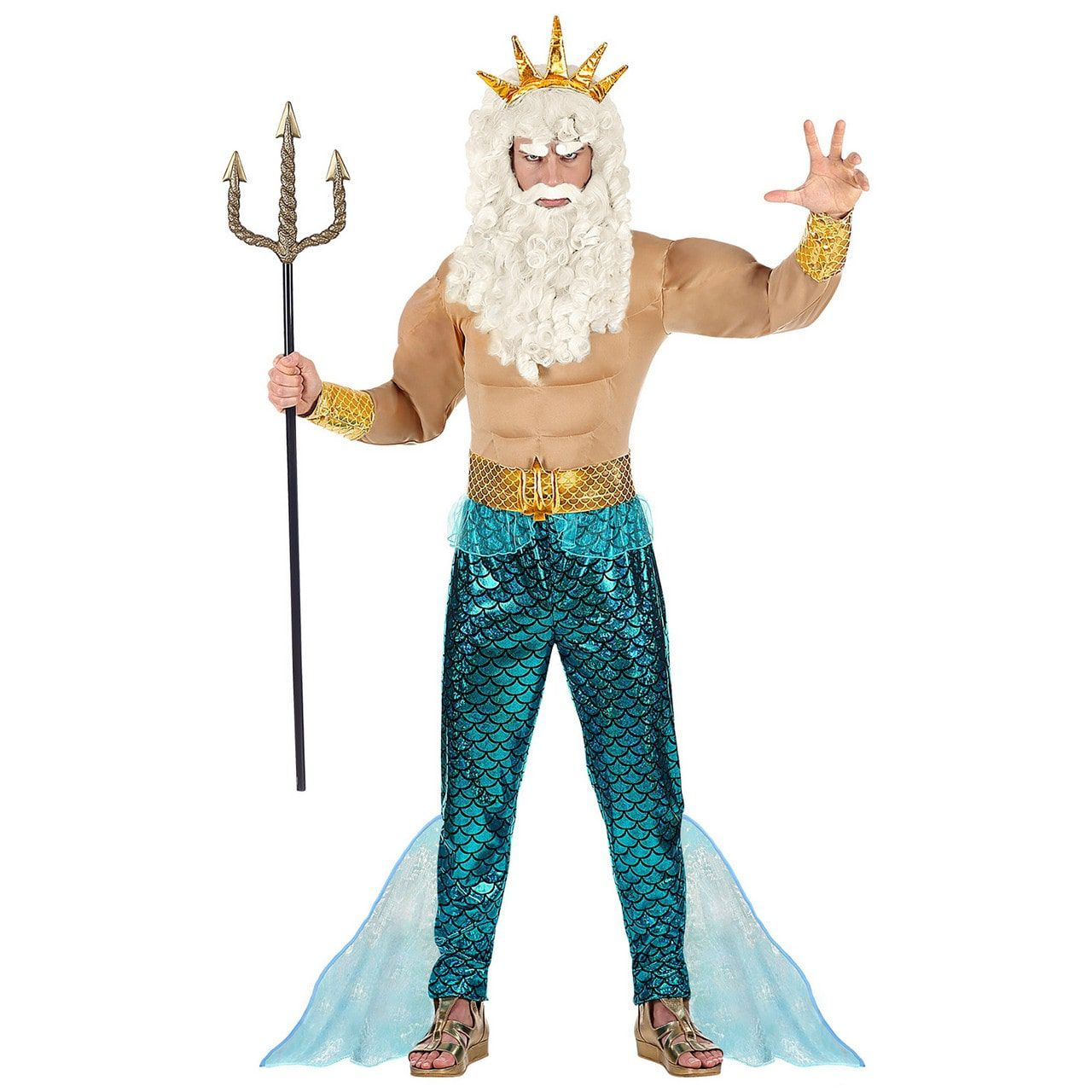 Poseidon Heerser Van De Middellandse Zee Man Kostuum