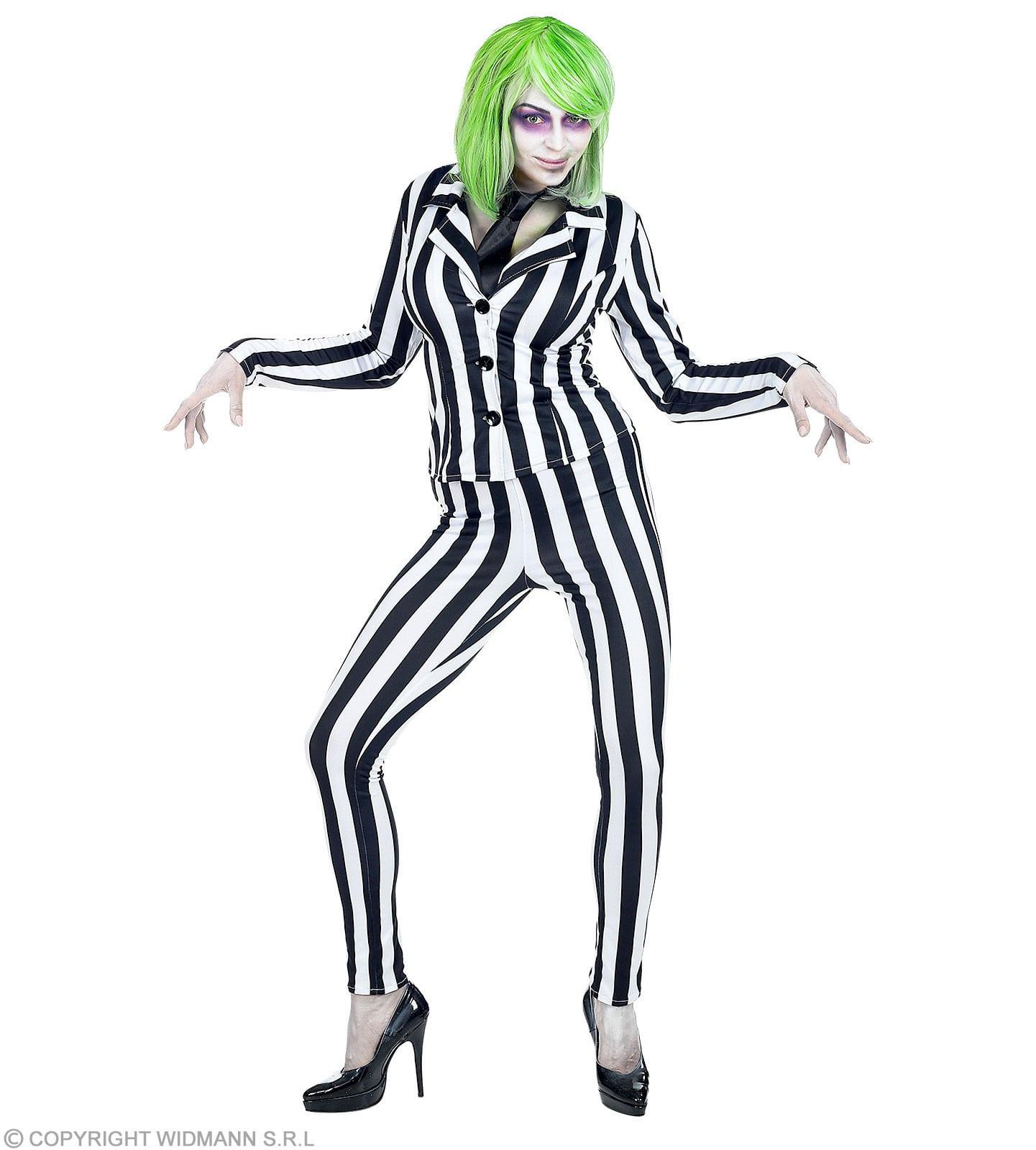 Geest In Streepjespak Betelgeuse Vrouw Kostuum
